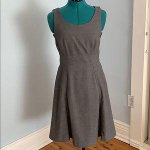 Pleated gray dress